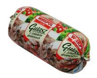 Gulasz z  pokrojonych żołądków drobiowych i warzyw